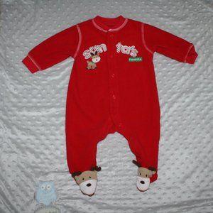 """Fleece sleeper """"Santa's favorite"""" reindeer feet"""